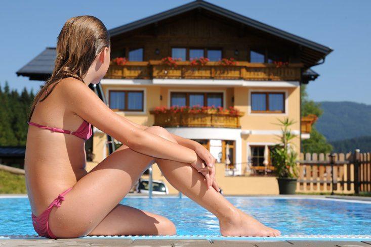 Außenpool - Natur- & Familienresort Der Stieglerhof, 3 Sterne Hotel in Radstadt